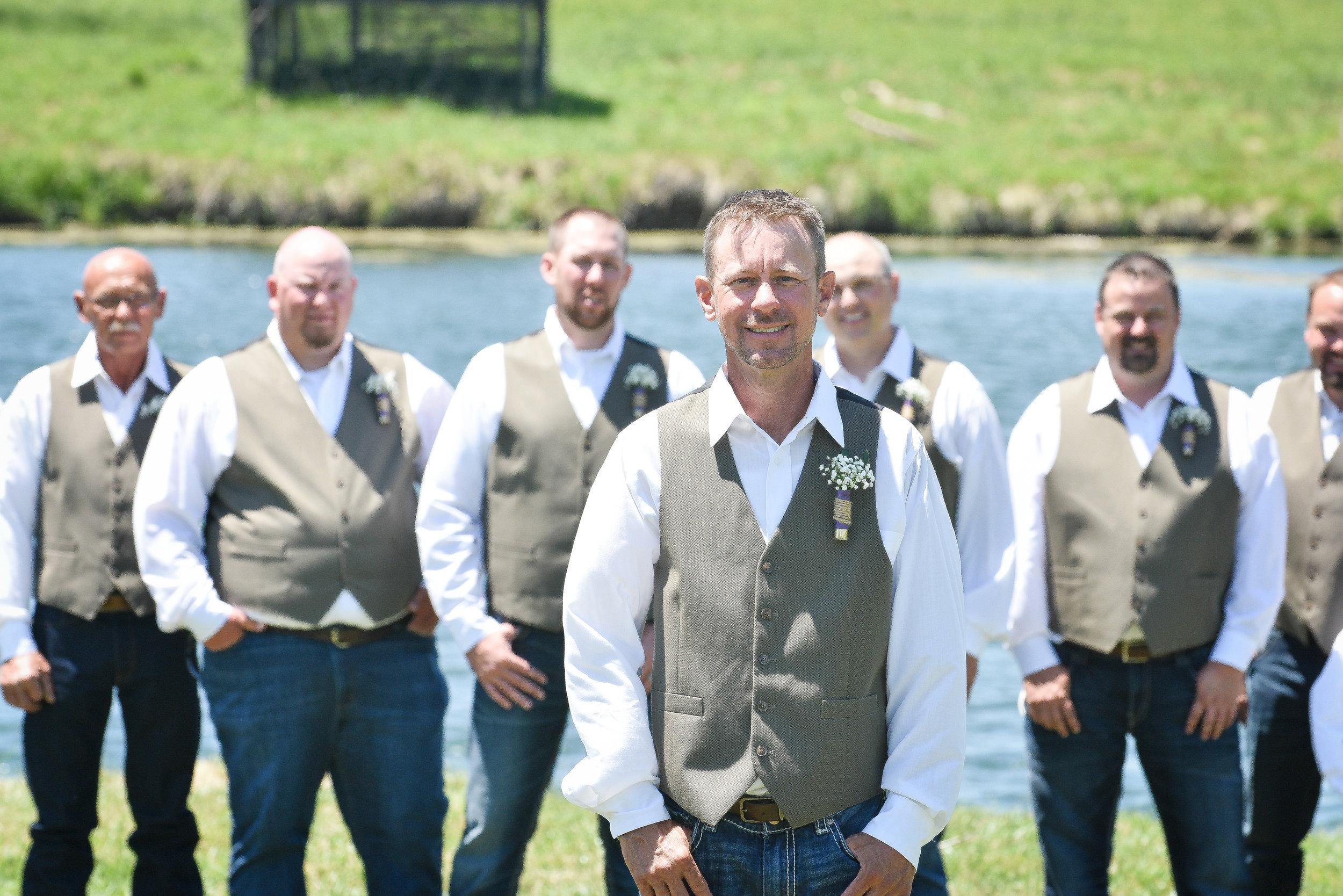 Knoxville Illinois Summer Wedding Groomsmen Boutonnieres