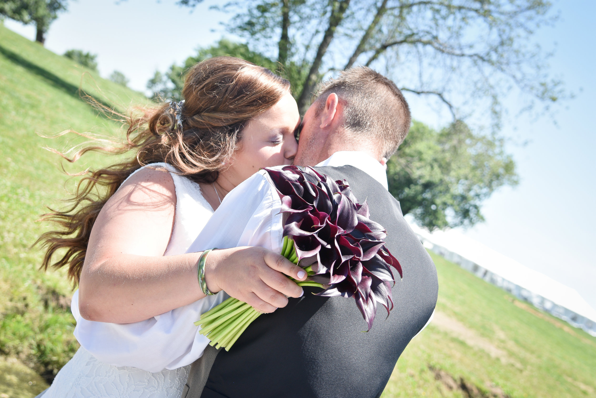 Central Illinois Backyard Summer Wedding