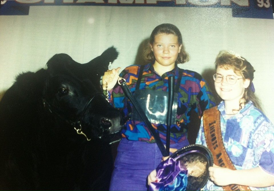 A little throwback to my showing days. Yes, those are super high waisted, purple jeans and I promise you they were the height of cowgirl style back in the early 90's.