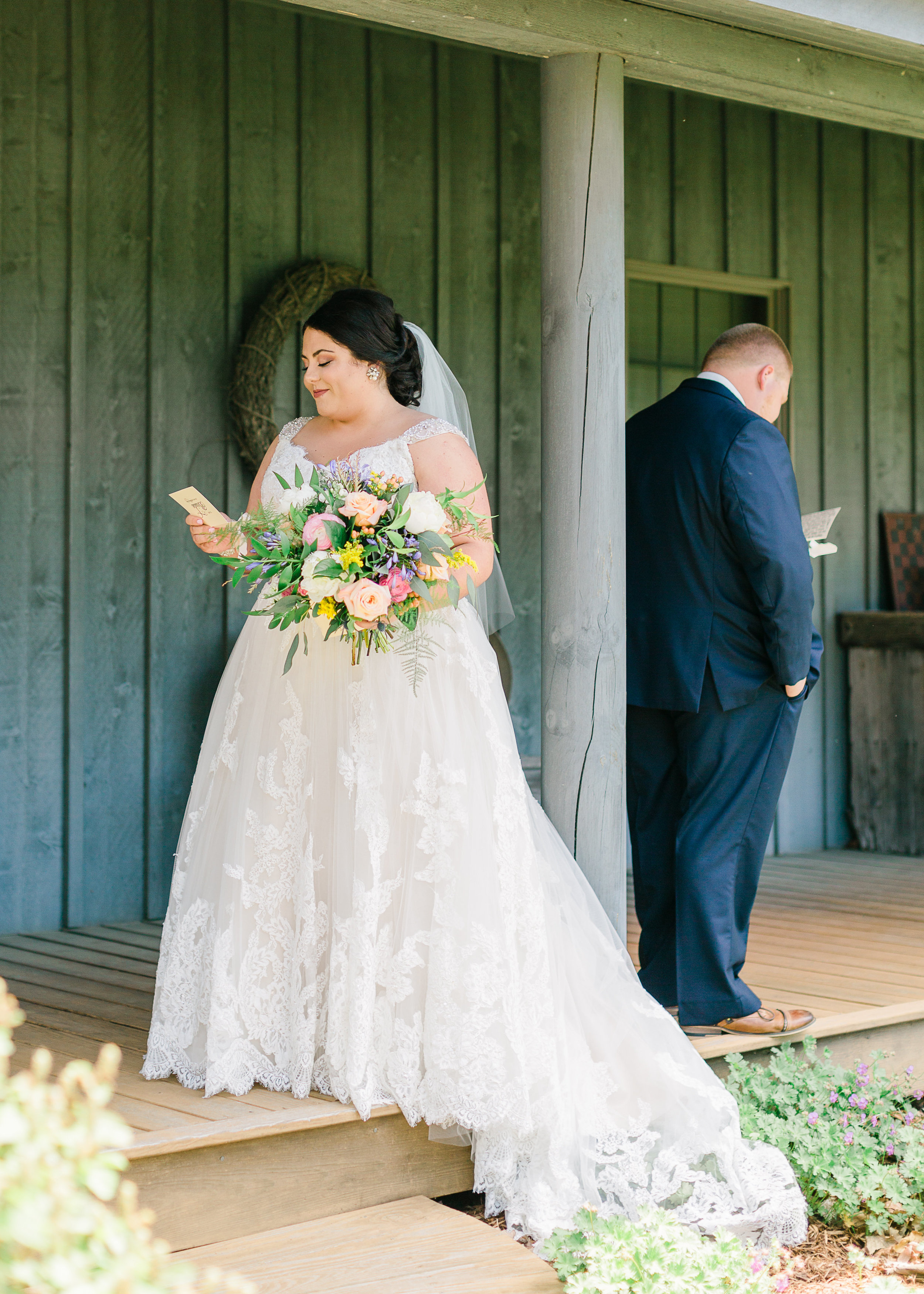 First Look Country Wedding Central Illinois