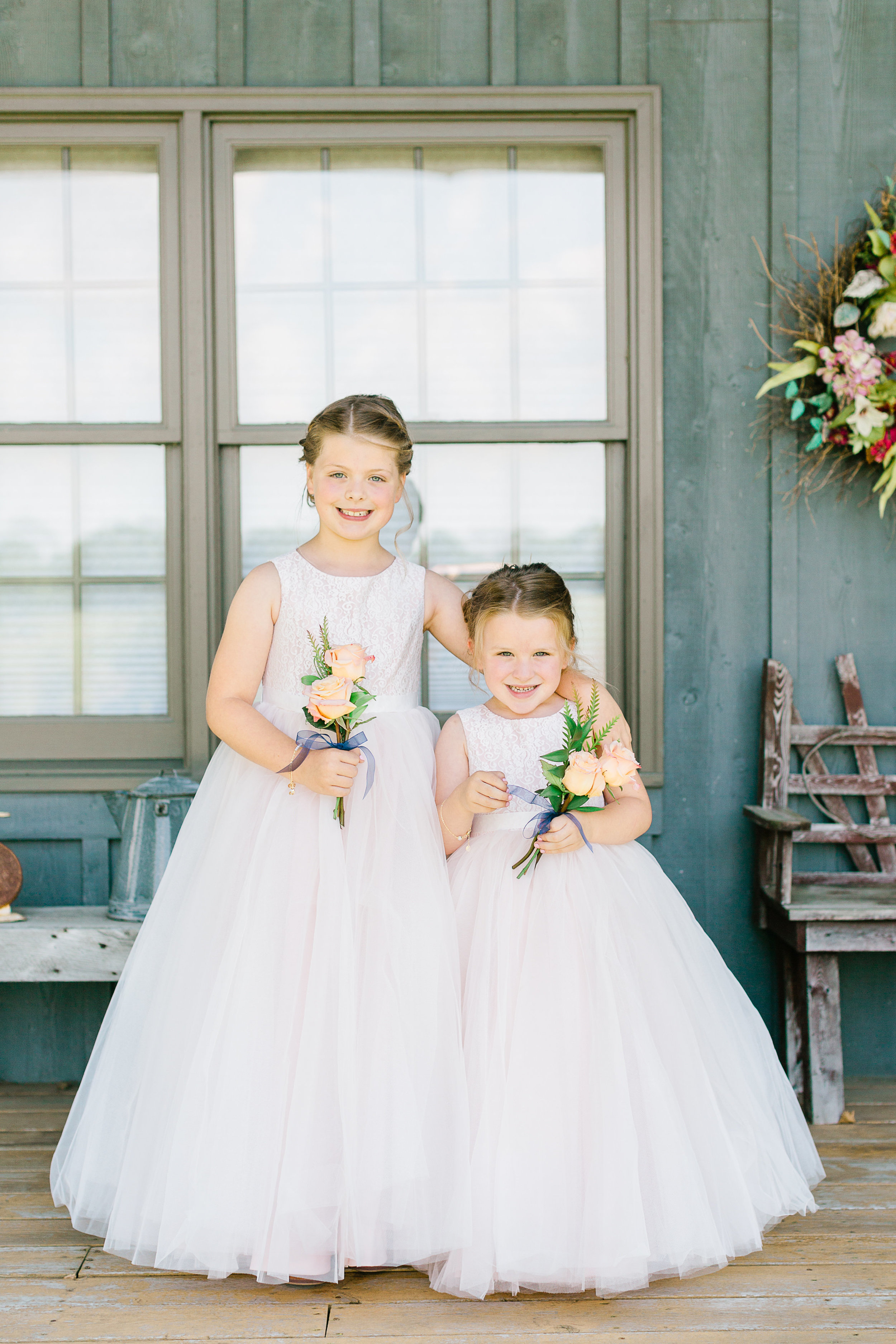 Country Wedding Flower Girls J.Blu Design Wedding Florist