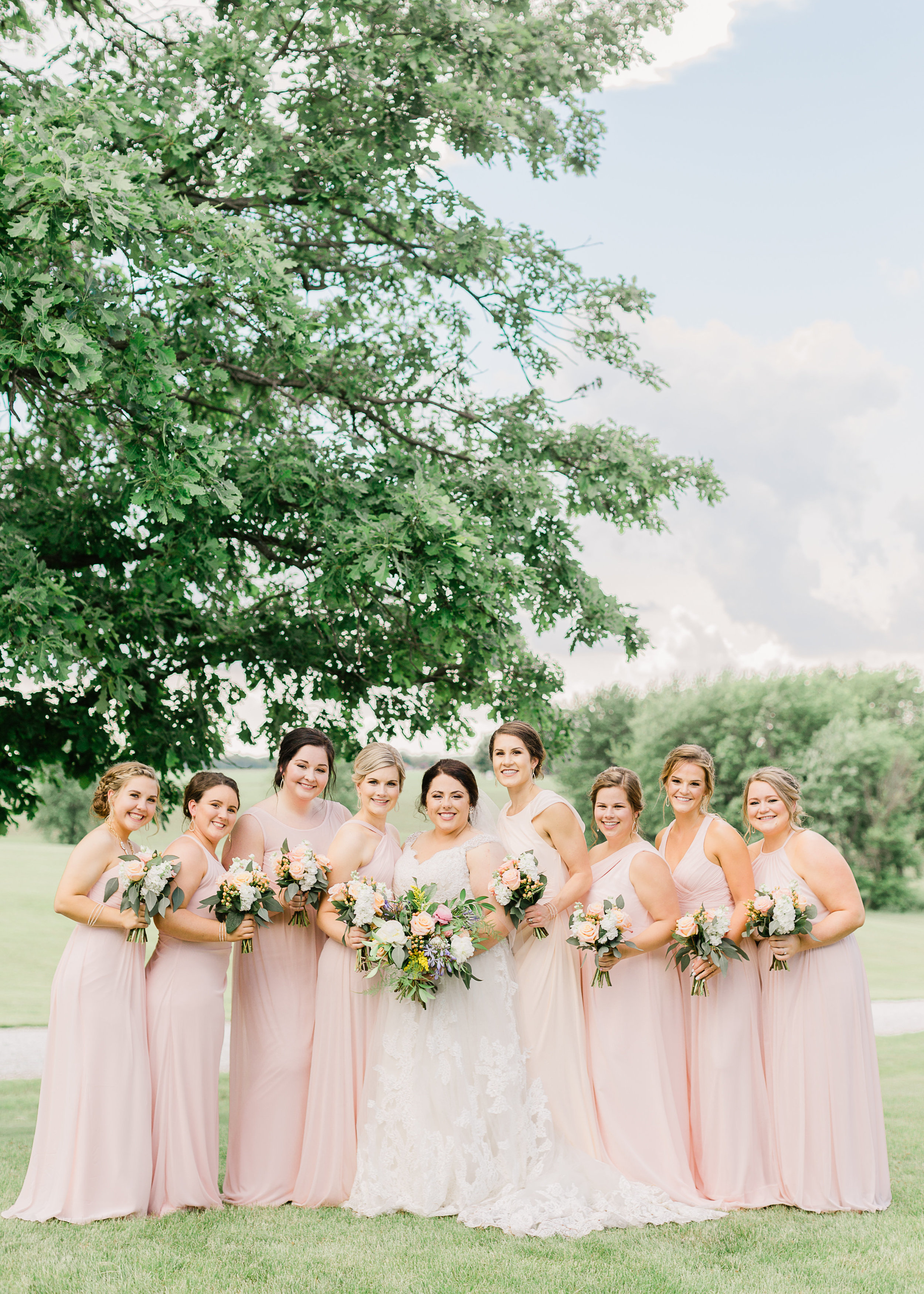 J.Blu Design Central Illinois Wedding Florist Outdoor Wedding