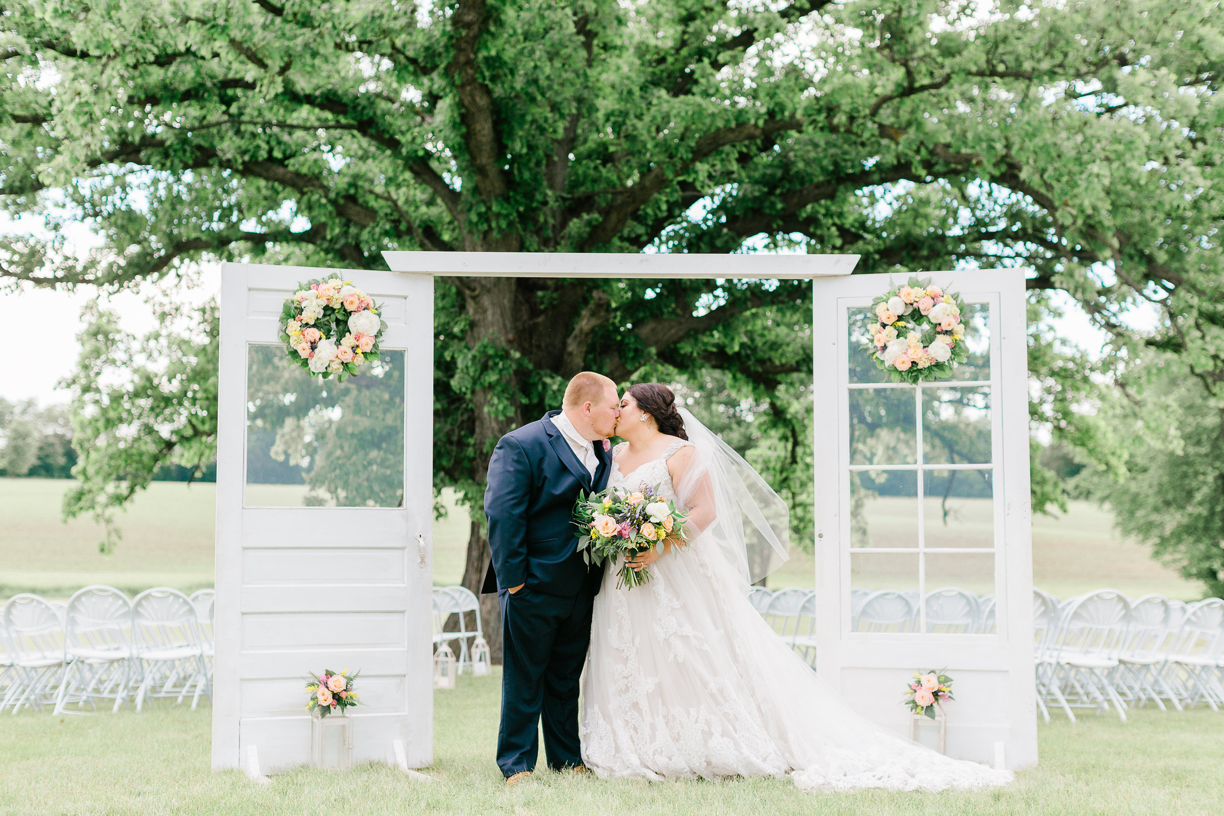 Ceremony Decor Outdoor Wedding Illinois Florist J.Blu Design