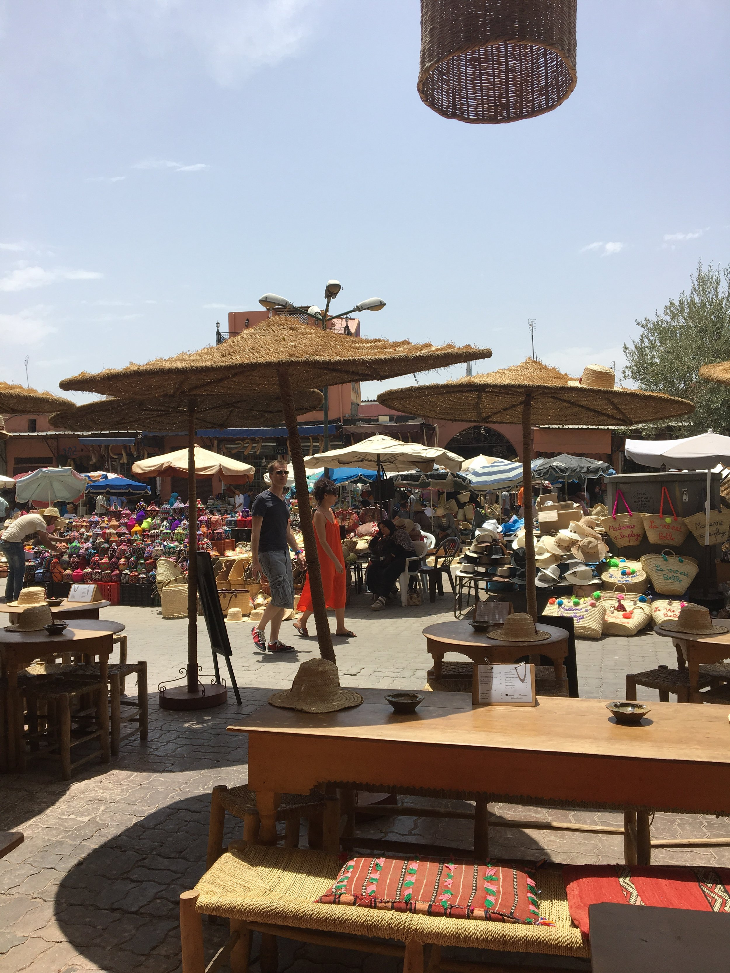 Place des épices, view from Café des Epices | Marrakech