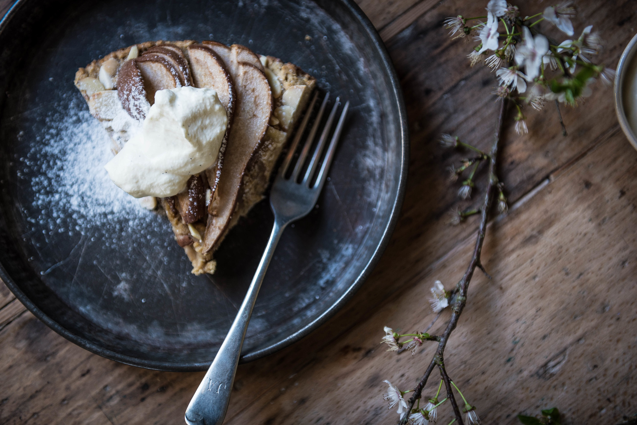 gluten free pear cake   food photography   audrey fitzjohn blog