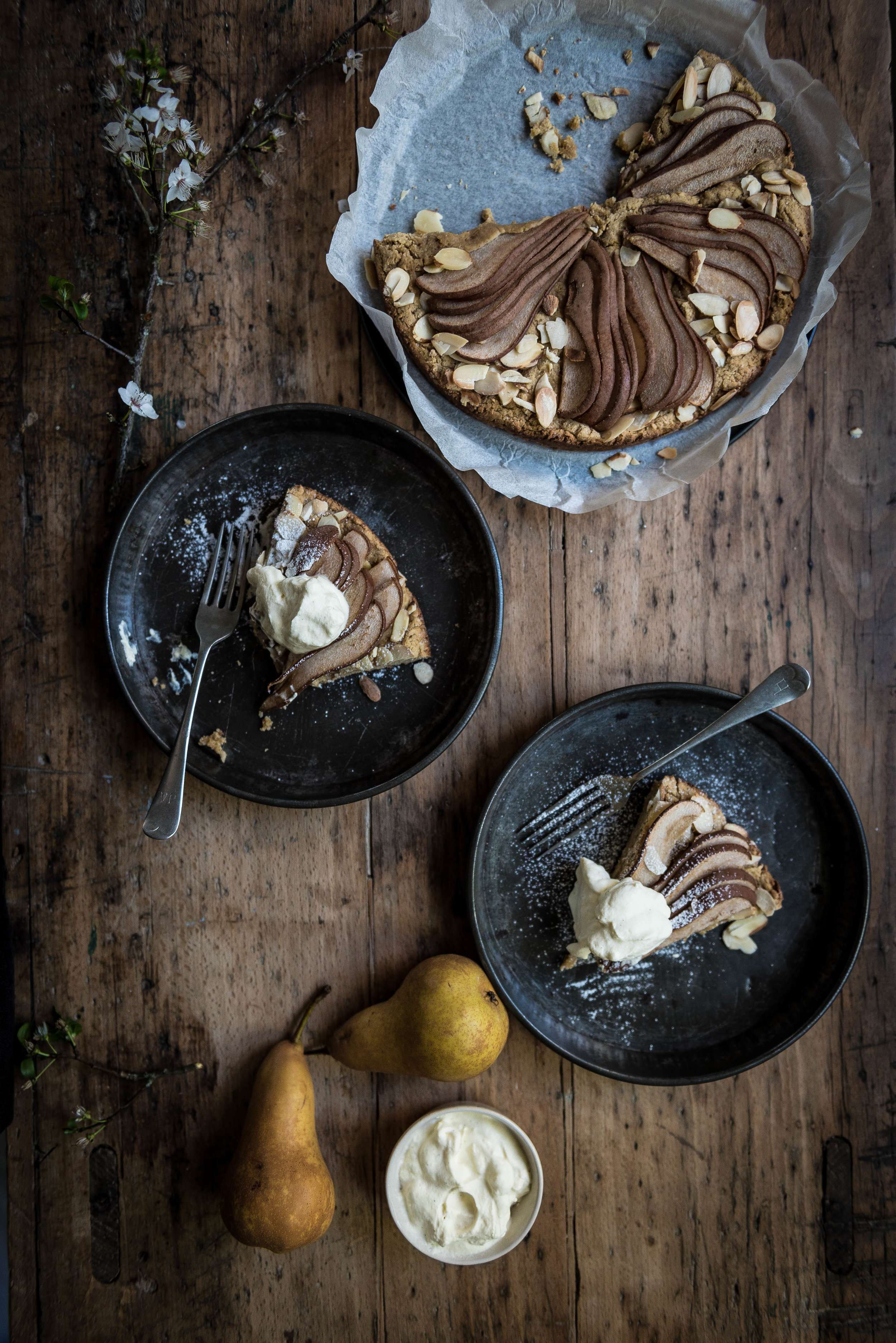 gluten free pear cake | food photography | audrey fitzjohn blog