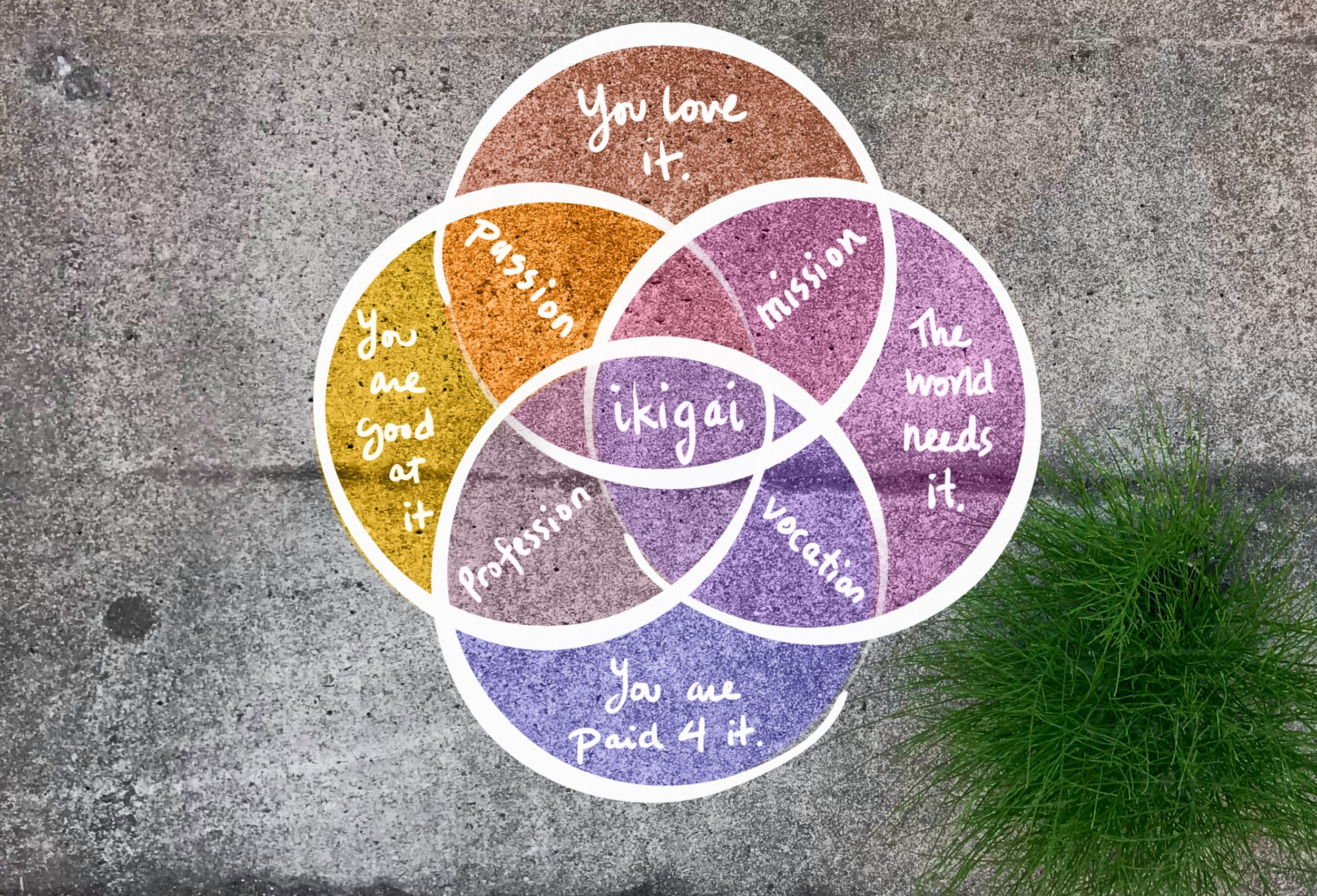 Ikigai - venn Diagram A. By Petra