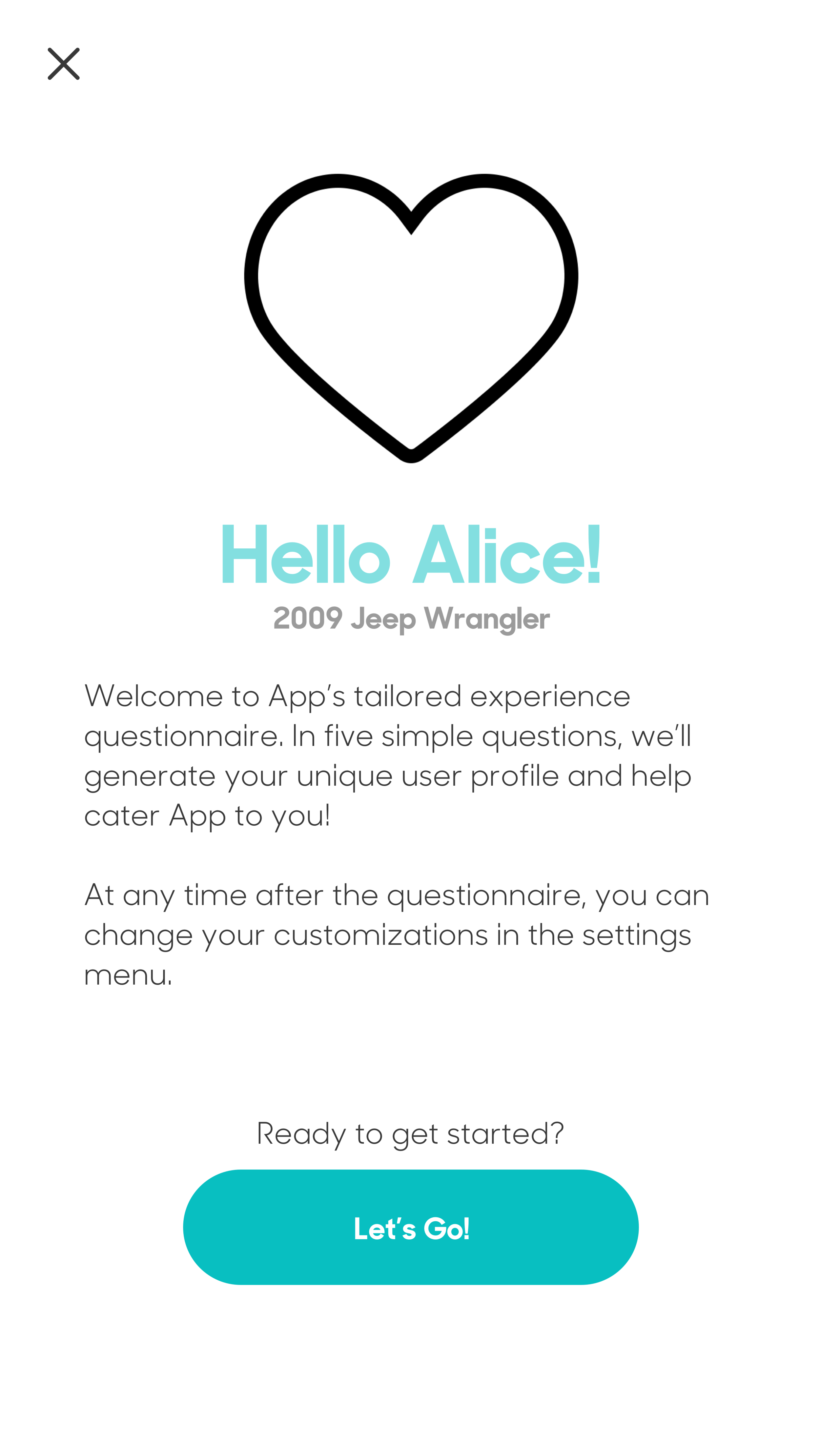 Intro screen. The users would be seeing this when they launch the app the first time.