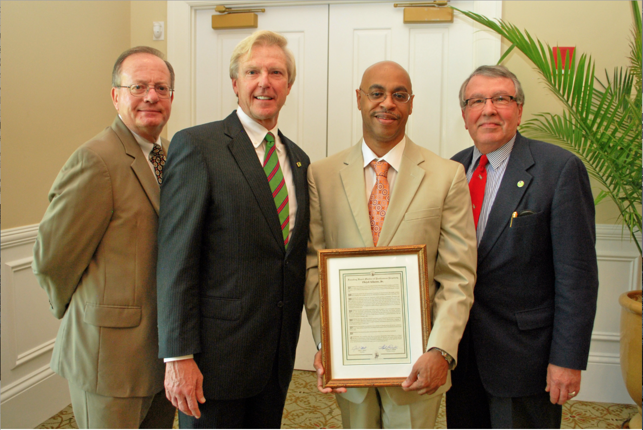 Floyd Adams' son Kenneth was presented with this Resolution honoring his father at the Whitefield kickoff luncheon on April 24, 2014