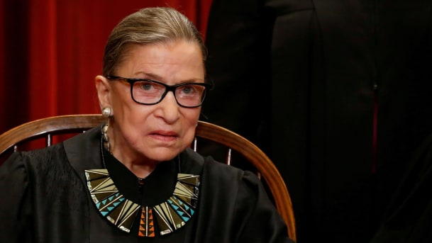 Supreme Court Supreme Court Justice Ruth Bader Ginsburg will miss a second week - of oral arguments as she continues to recover from a cancer surgery she underwent last month, court spokeswoman Kathy Arberg said Friday.