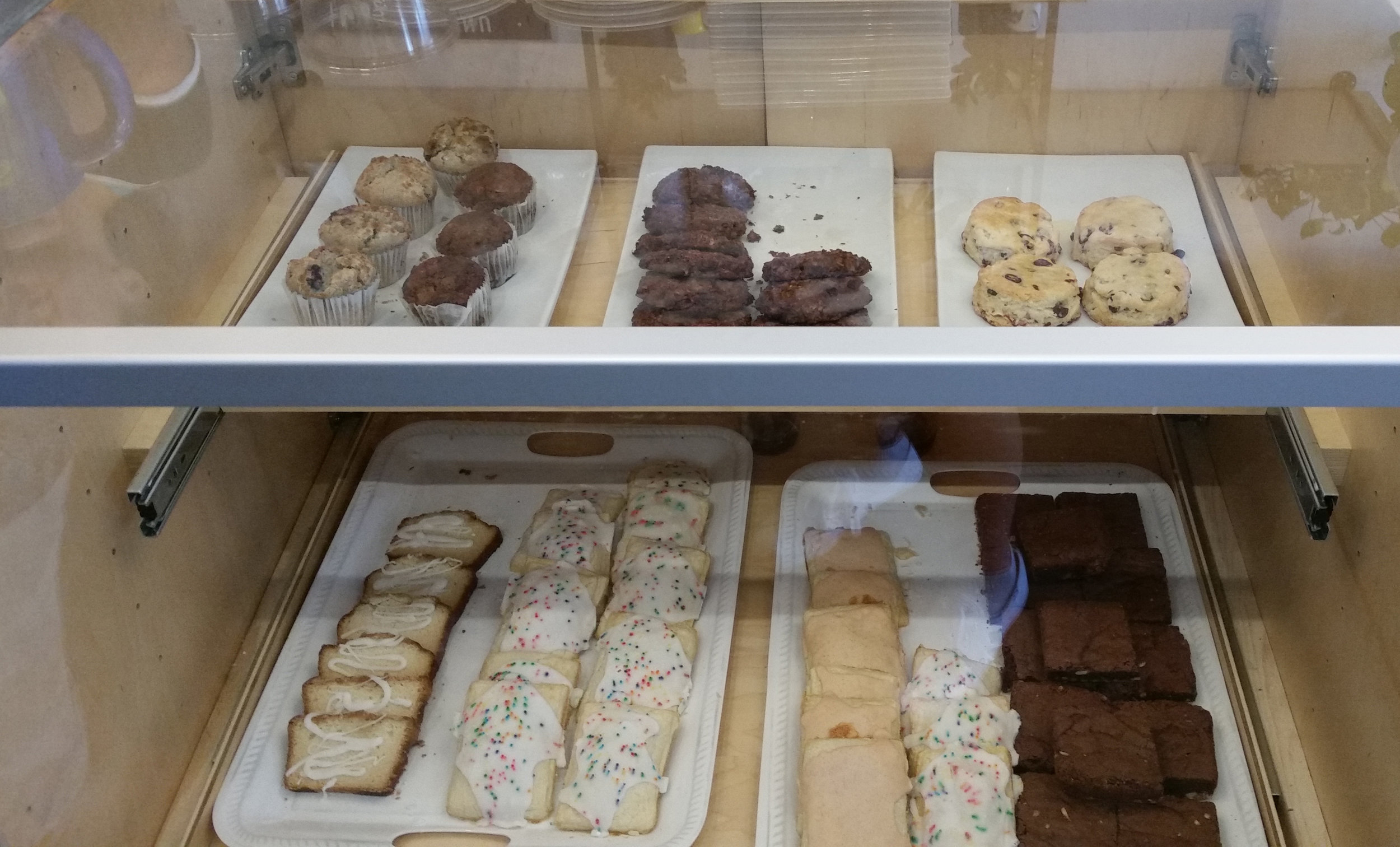 The pastry case at Honest Coffee Roasters in Huntsville includes some of your Mason Dixon favorites as well as some new items available only at Honest Coffee Roasters.