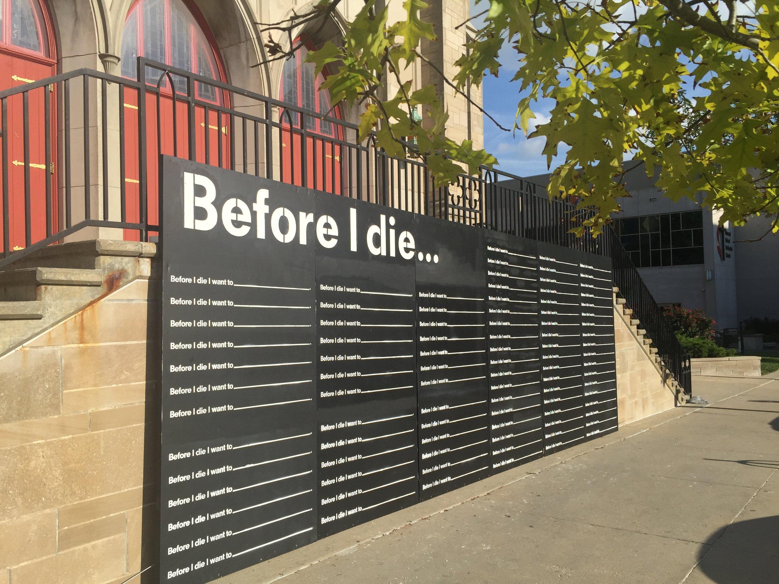 Before I Die community chalkboard wall.JPG