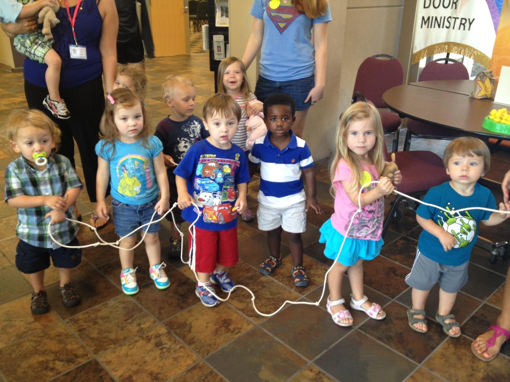 preschool VBS line.JPG