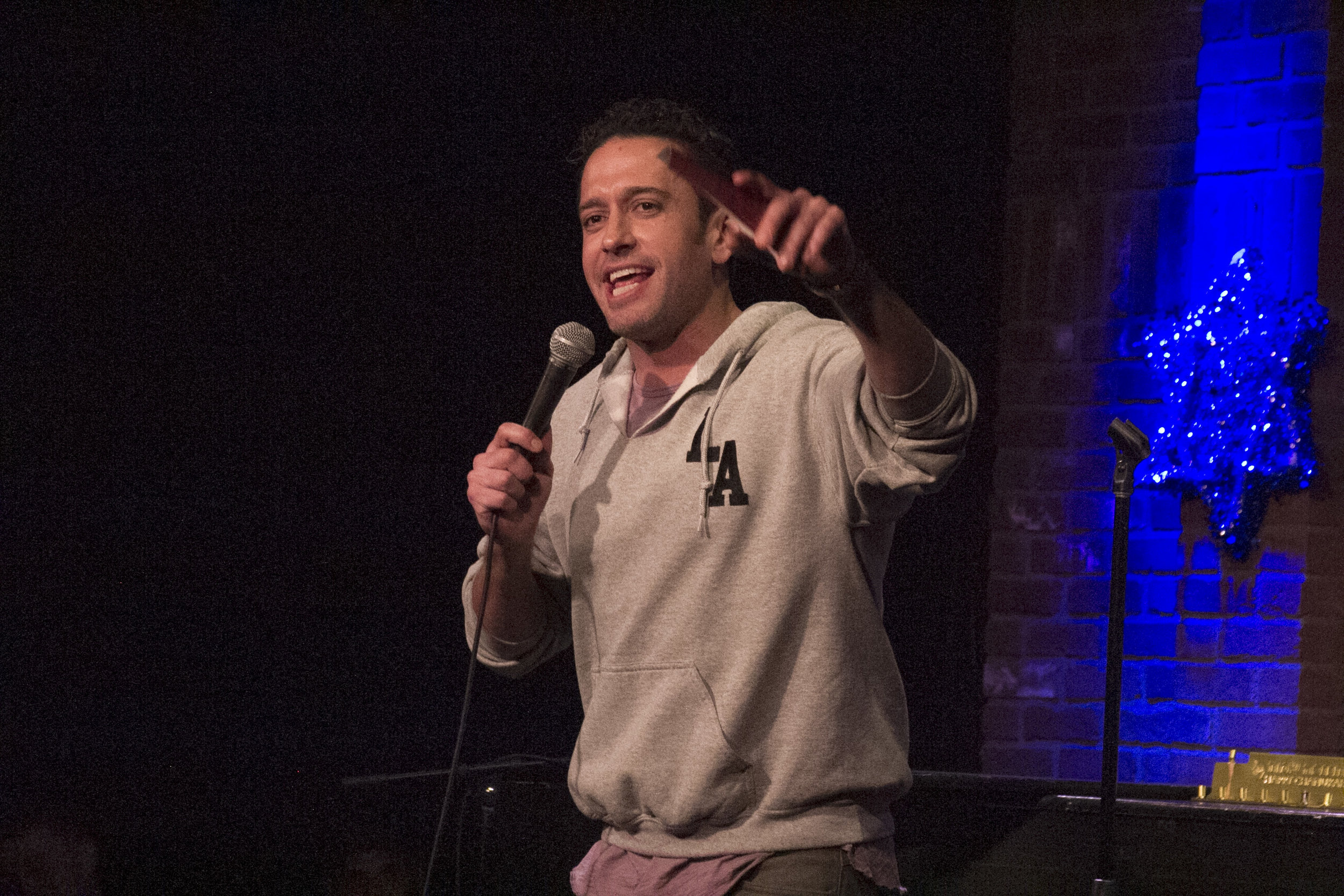 Comedian Brian Moreno at the Hollywood Improv