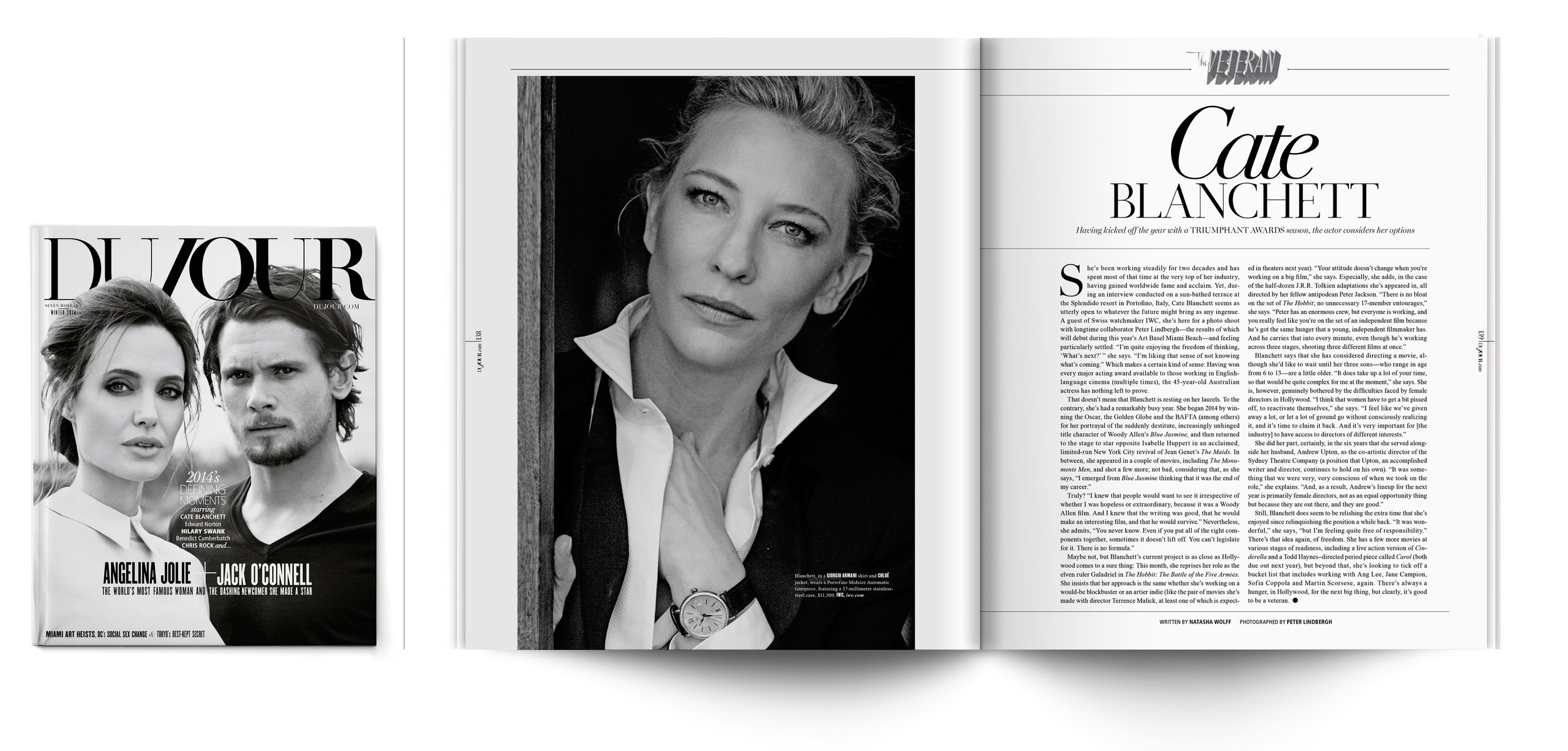 DuJour Magazine | Winter 2014   The Veteran: Cate Blanchett