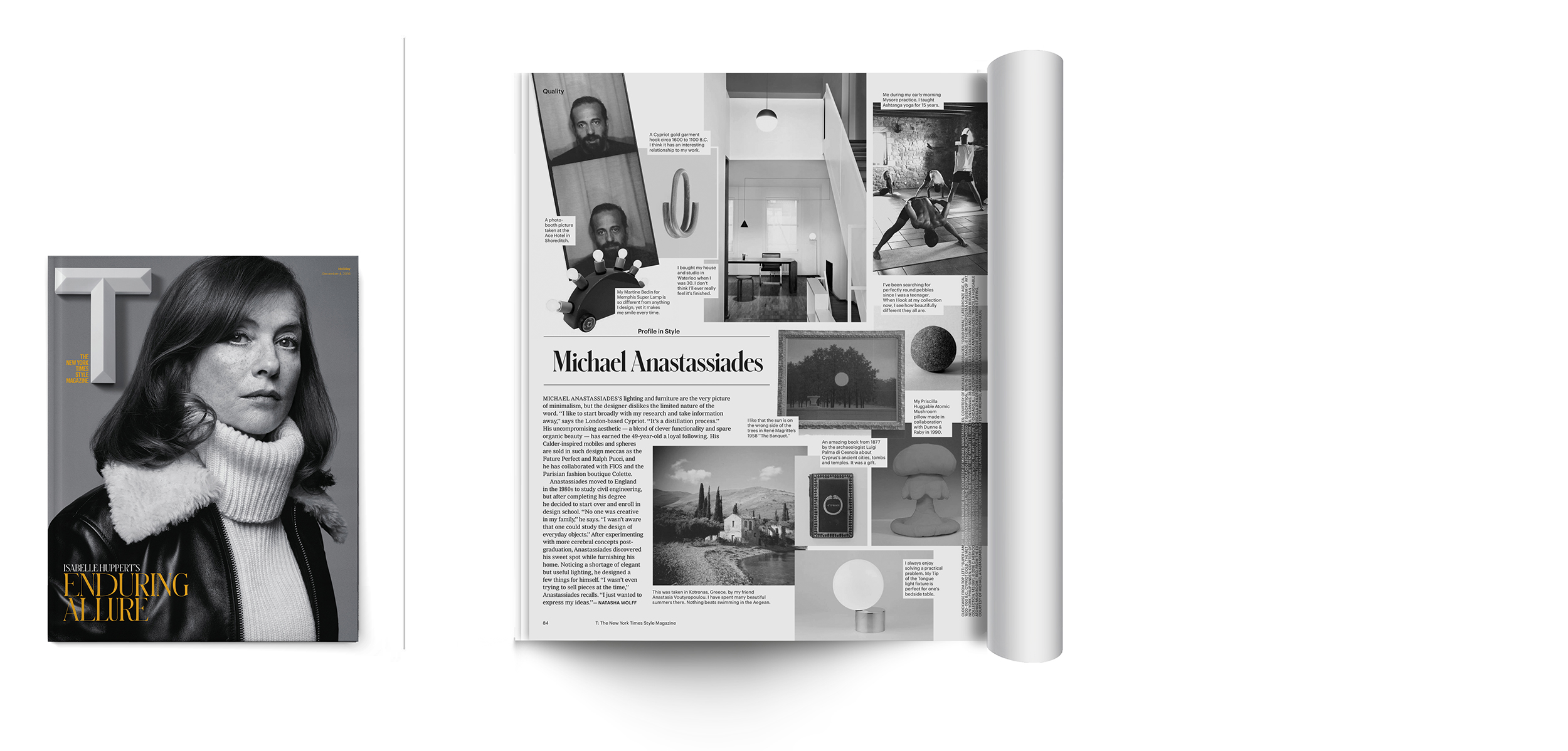 T:New York Times Style Magazine | November 2016   The Great Big World of a Minimalist Lighting Designer