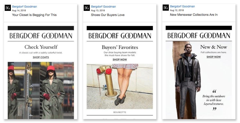 Bergdorf Goodman   2018  BG Email Newsletters