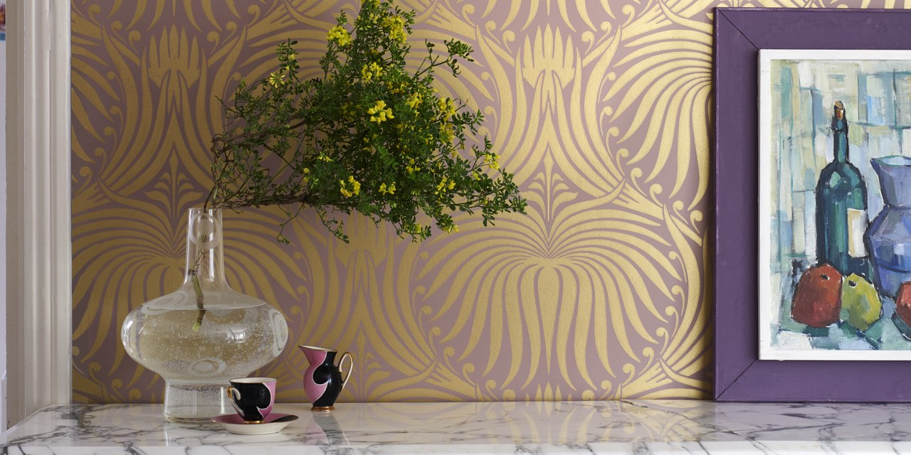 ArchitecturalDigest.com   Farrow & Ball Launches a 25-Piece Metallic Wallpaper Collection