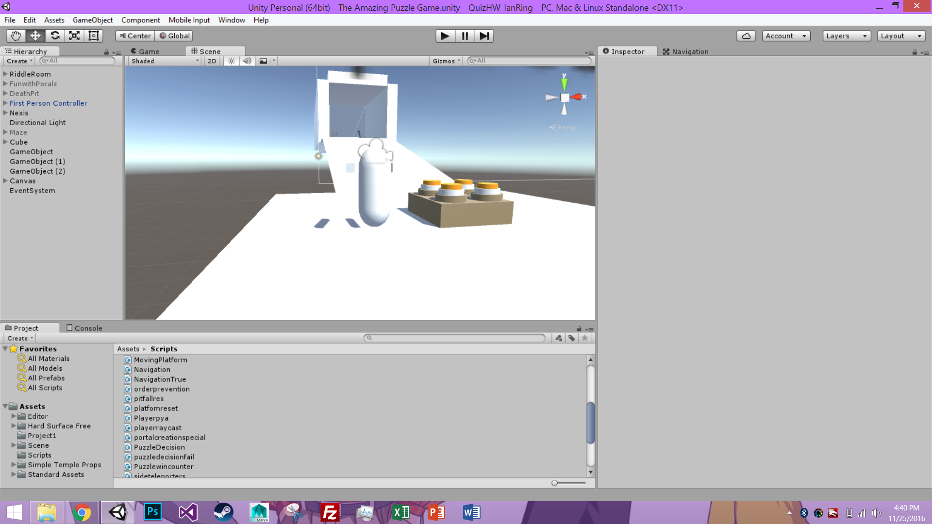 Unity Editor display of project