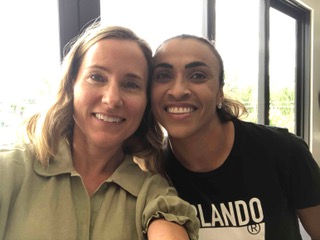 Filming at the Orlando Pride with Marta.