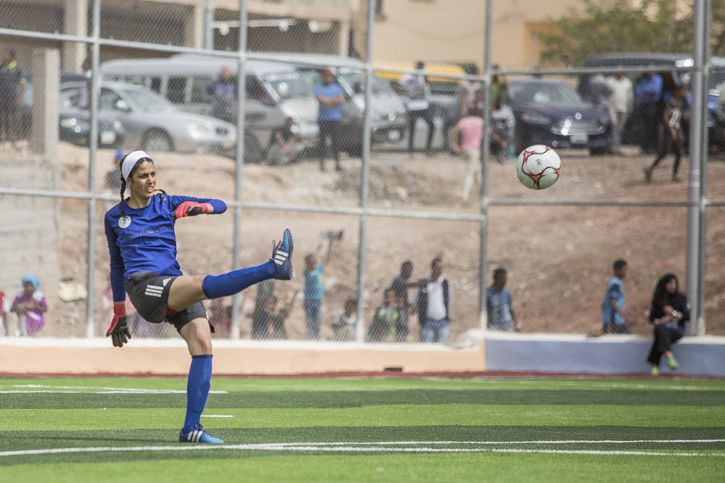 Maryana Awni Haddad, Jordan goalkick.jpg