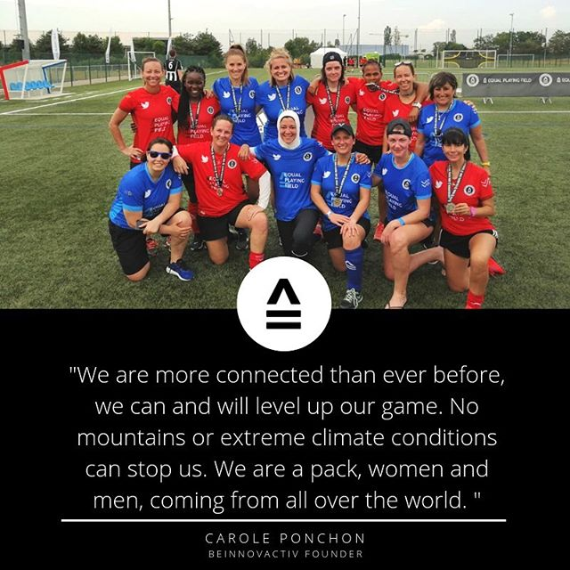 EPF volunteer and Lyon world record breaker, Carole Ponchon (back row, 5th from left) reflected on the summer of 2019 and the impact that the @fifaworldcup and #FestivalofFootvall had on her. Check it out at the link in our bio! #EPFinthenews