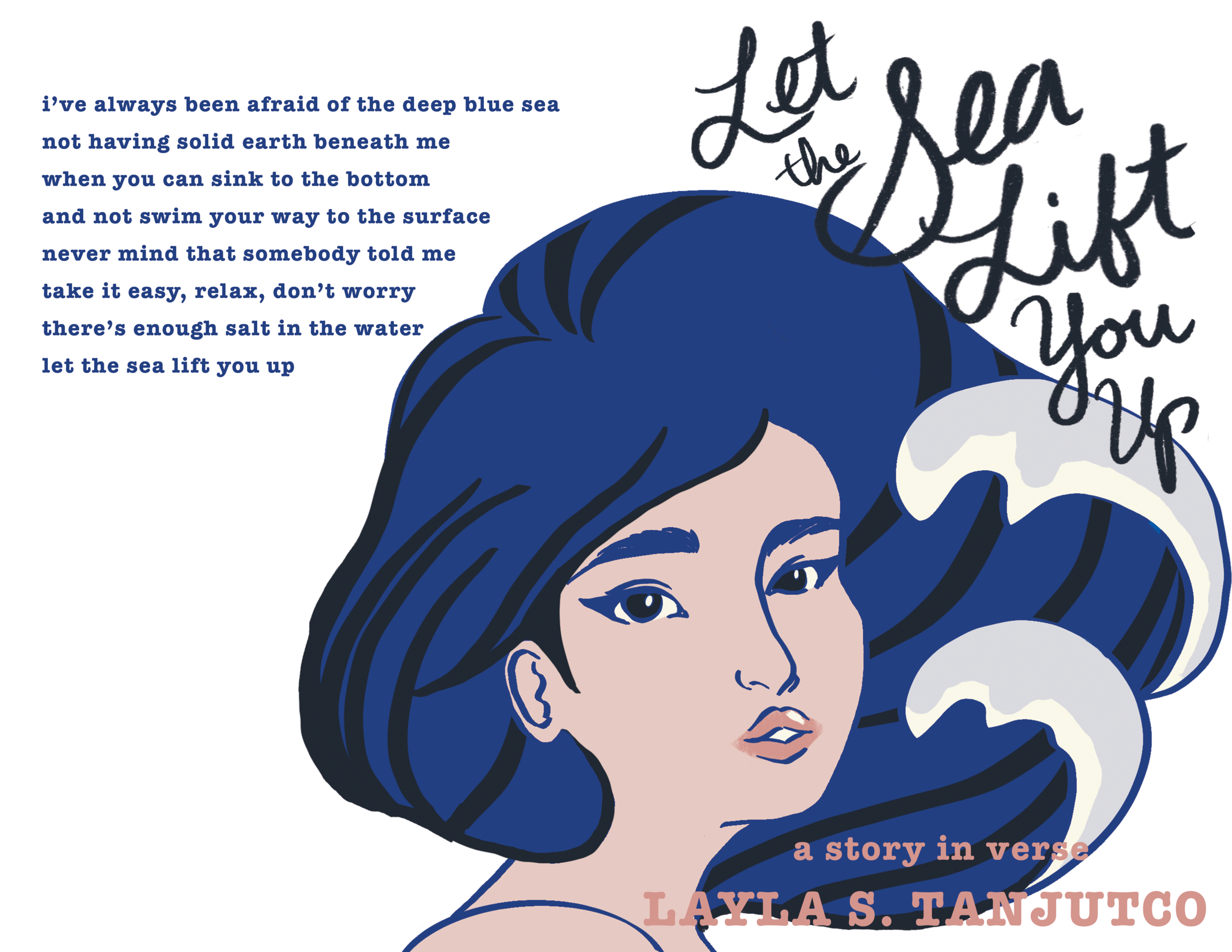 Coloring of Illustration and cover design for 'Let the Sea Lift You Up'