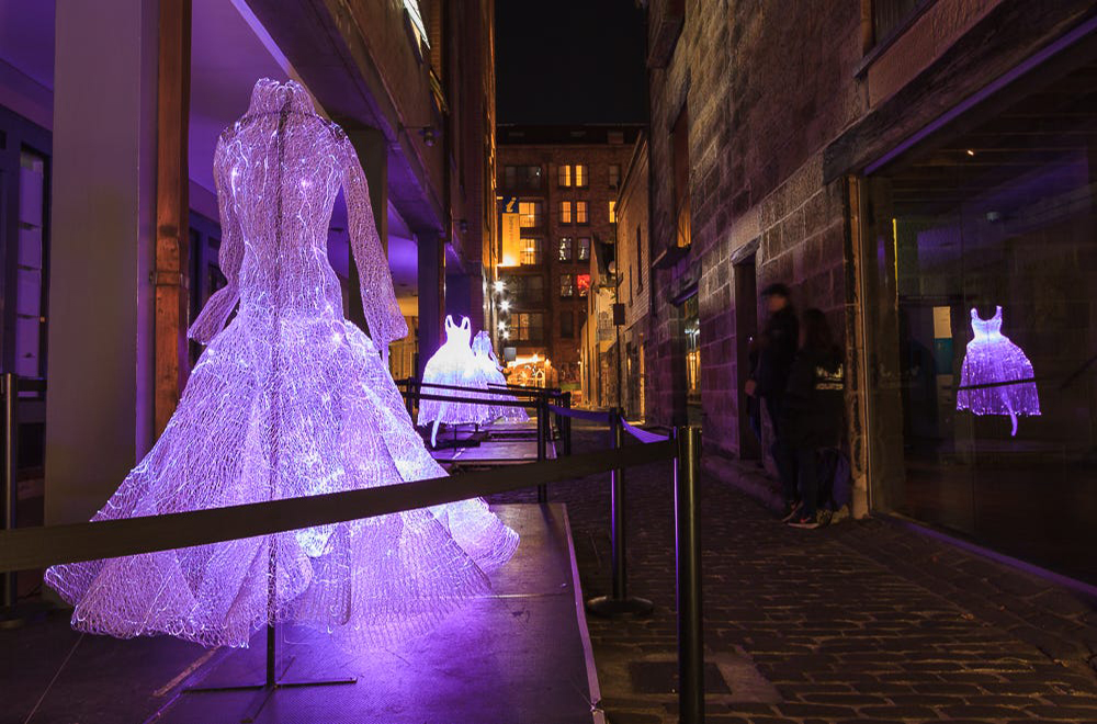 This was one of the smaller yet amazingly beautiful exhibitions at Vivid Sydney 2015. Simply called 'The Dresses'