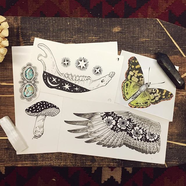 Tattoo designs / illustrations by Meg Adamson. © Gold Standard Studio.