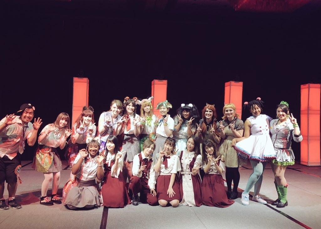From Left To Right: Danzoo -> Dash, Alex Pinku, MilkyKitty, Tambourine, Galaxy Girl Paida, Cherry Wallflower, STARMARIE