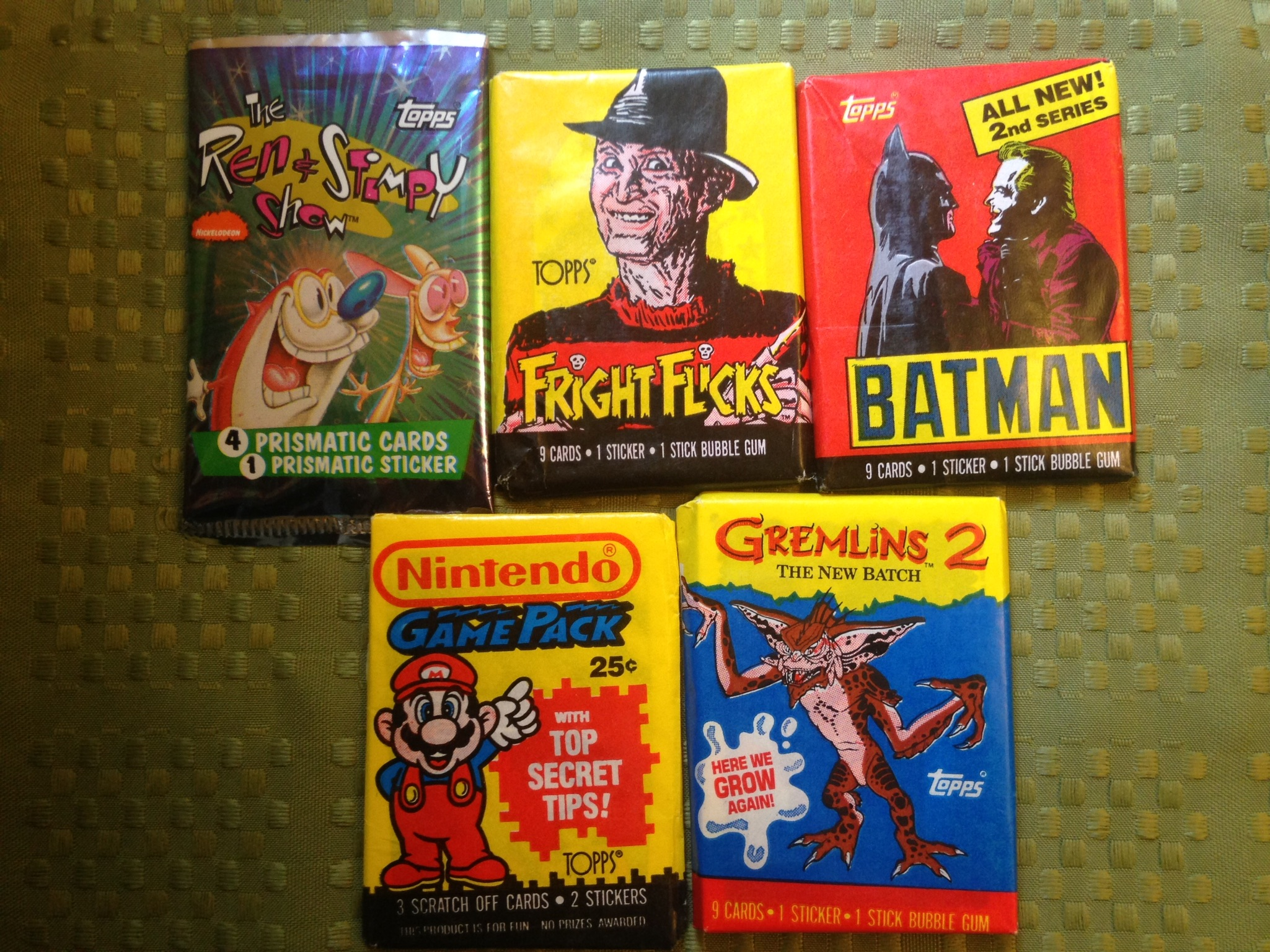 Five packs of trading cards - $8