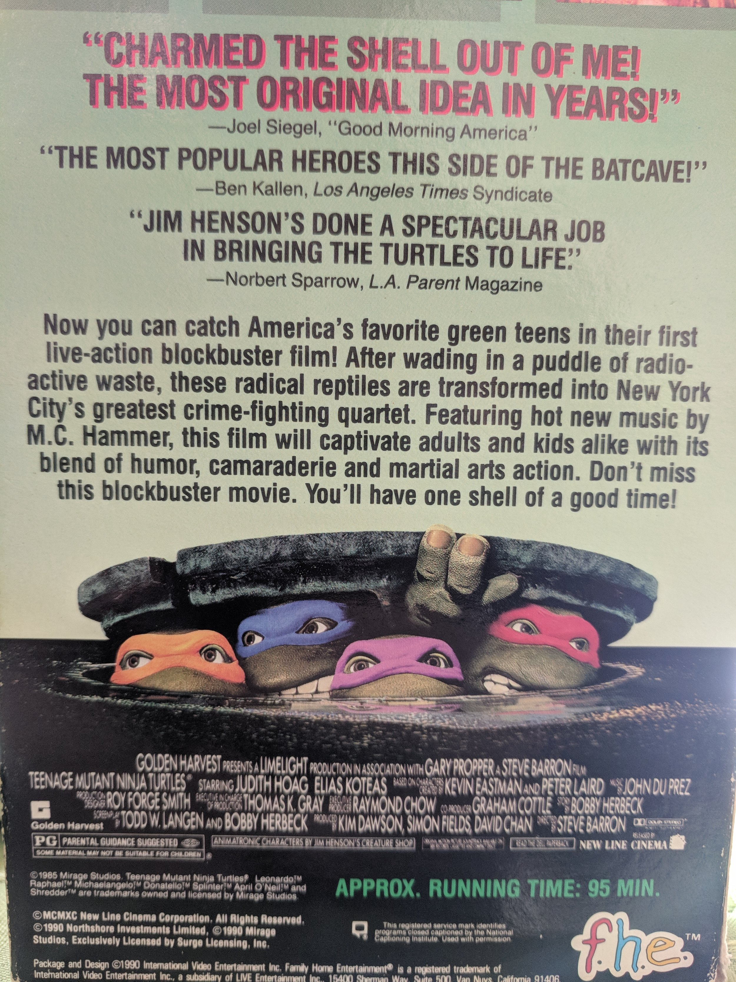 The back of the VHS jacket. That's right, I still own one and had it ready!
