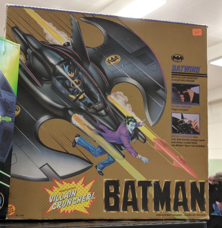 Trigger Activated Villain Cruncher, since we all know Batman loves killing enemies