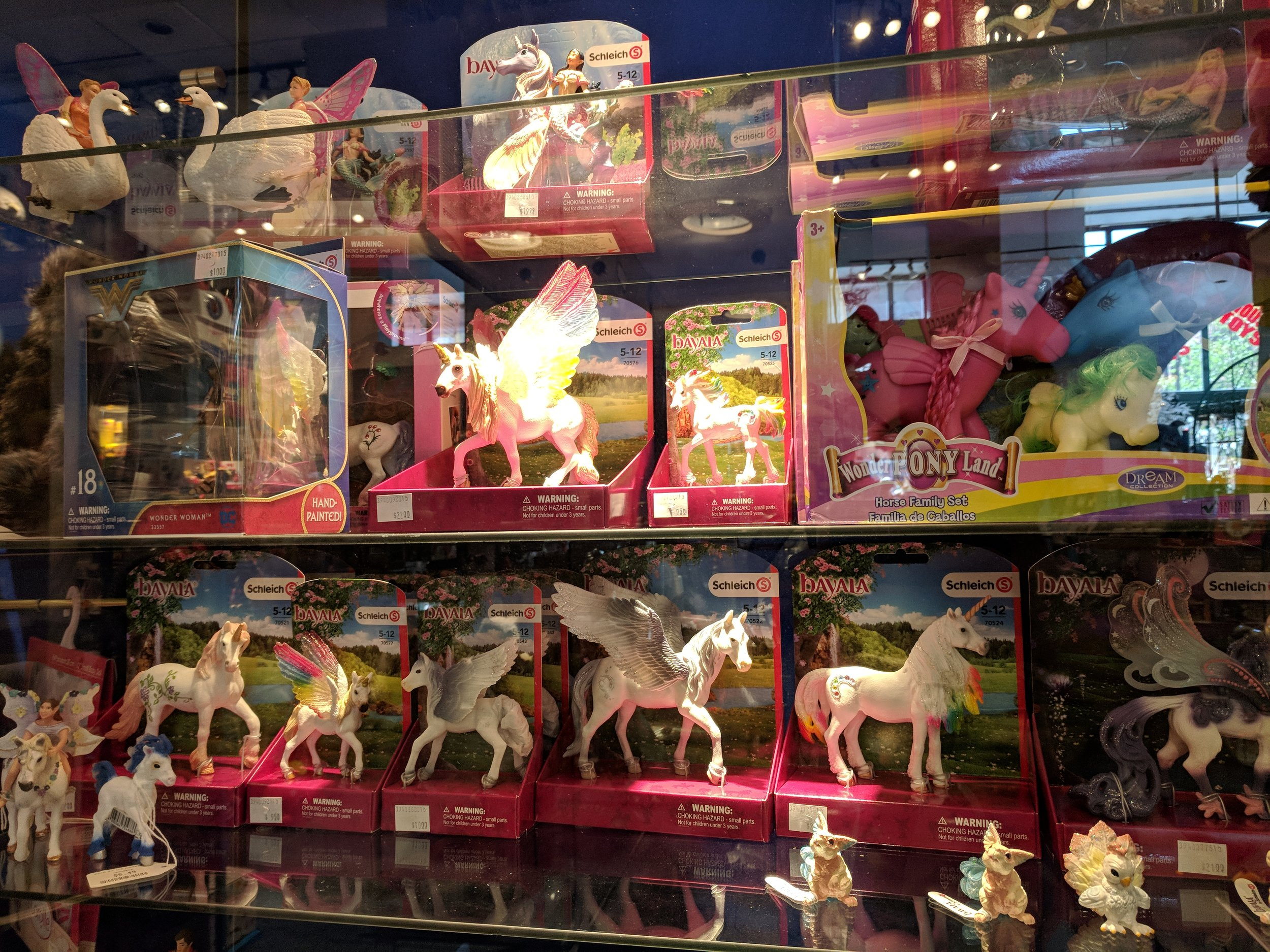Pink unicorns and baby dolls for days