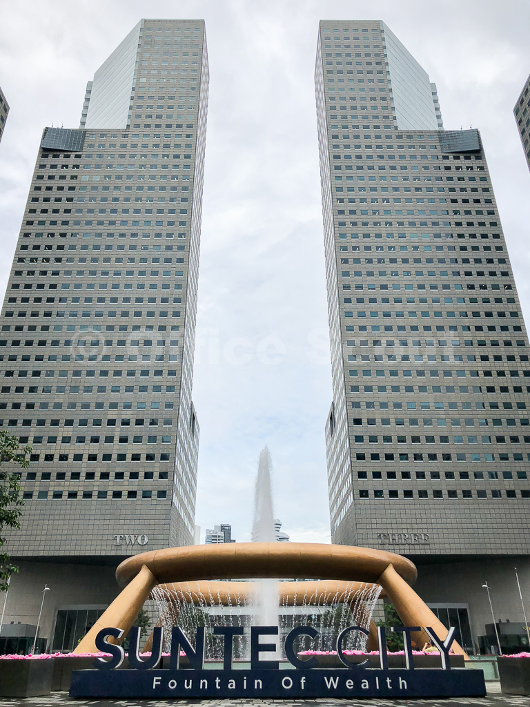About Suntec City Office - Suntec City is a fully integrated development comprising of four 45-storey office towers, an 18-storey office tower, one of Singapore's largest shopping malls and an internationally renowned convention and exhibition centre.