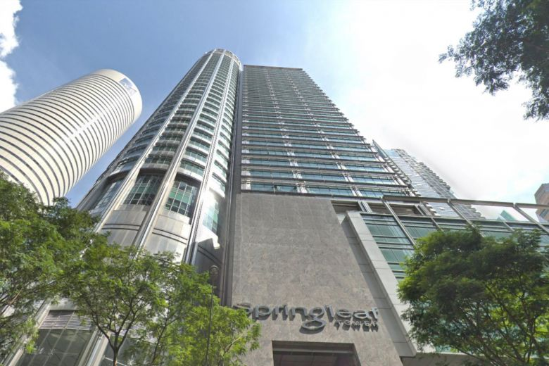 Springleaf Tower, at the junction of Anson Road, is a 37-storey office building in Singapore's central business district. The sale offering, which will be sold on a vacant possession basis, comes with exclusive use of the lift lobby, restrooms and pantry.