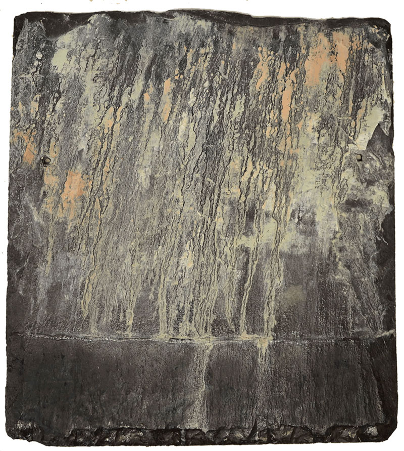 Downpour , Sep. 2015 (oil on slate, 20 x 22cm)