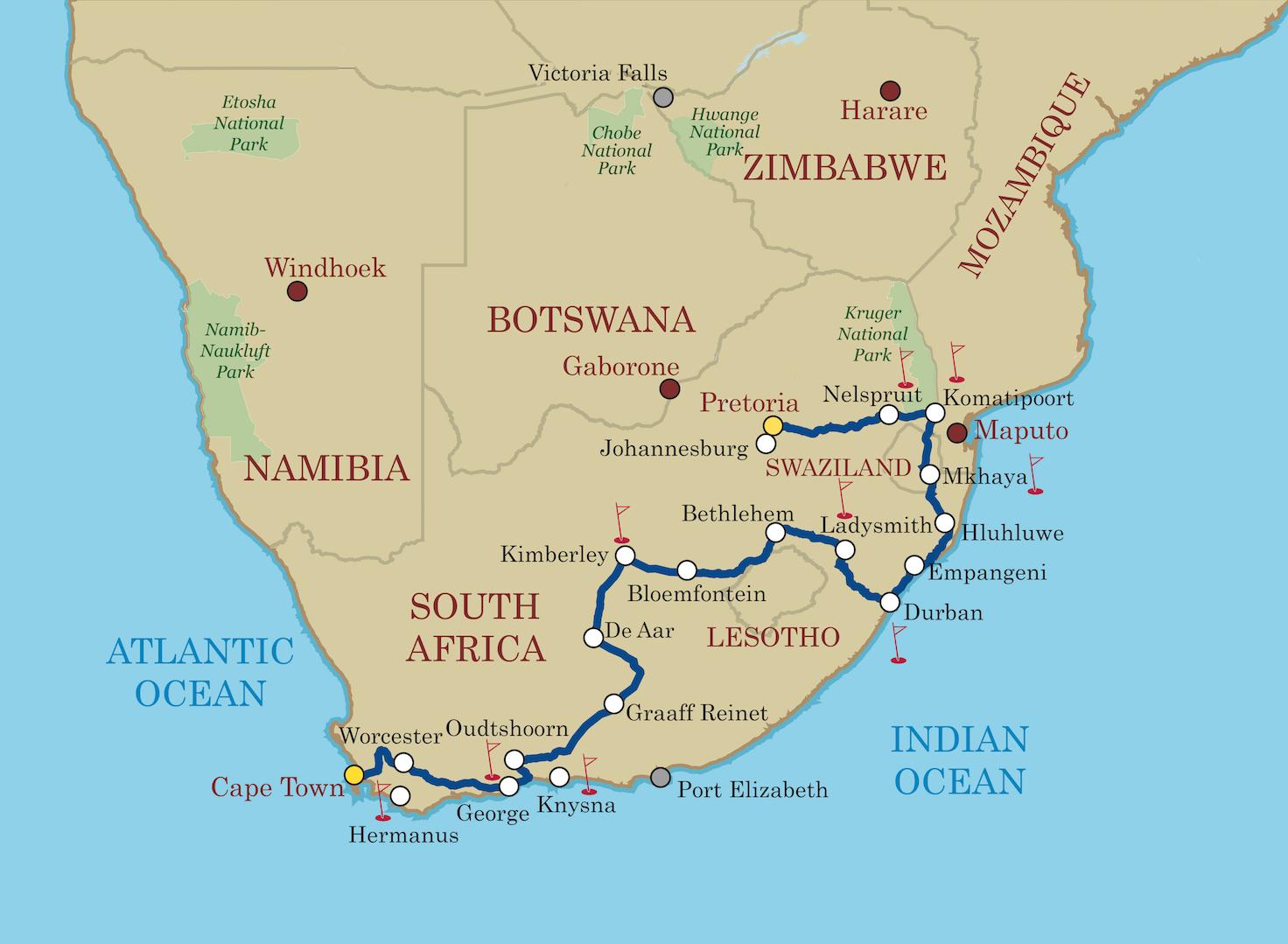 Shongololo Express Afrique du sud - Circuit