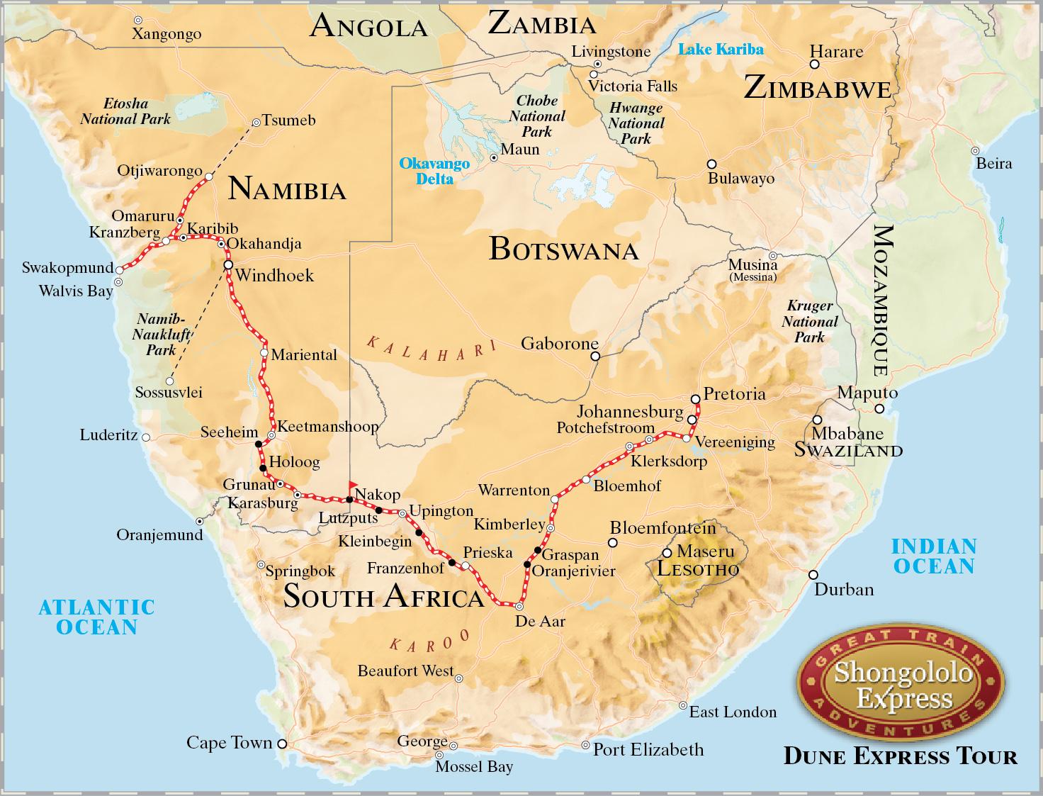 Rovos Rail namibie circuit