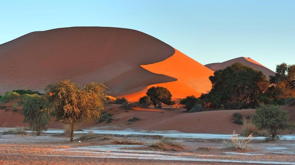 Le meilleur de la Namibie - Voyager de Cape Town à Windhoek en avion peut être un moyen pratique et rapide d'aller de A à B, mais ce serait dommage de rater cette magnifique route panoramique avec ses champs fleuries, ses plages sauvages et isolés ou encore ses étendues de désert de sable rouge.12 jours/ 11 nuits