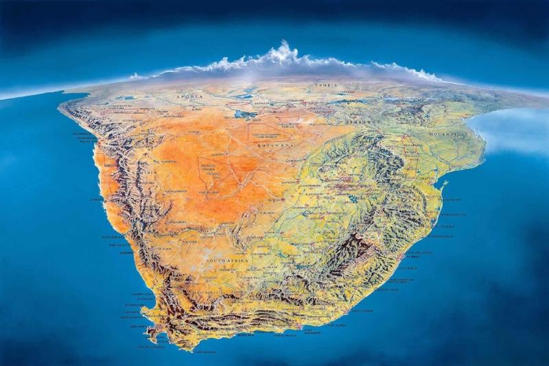 Carte de l'Afrique du Sud -