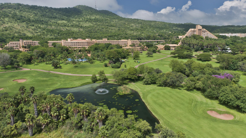 Sun City Hotel gardens and The Cascades