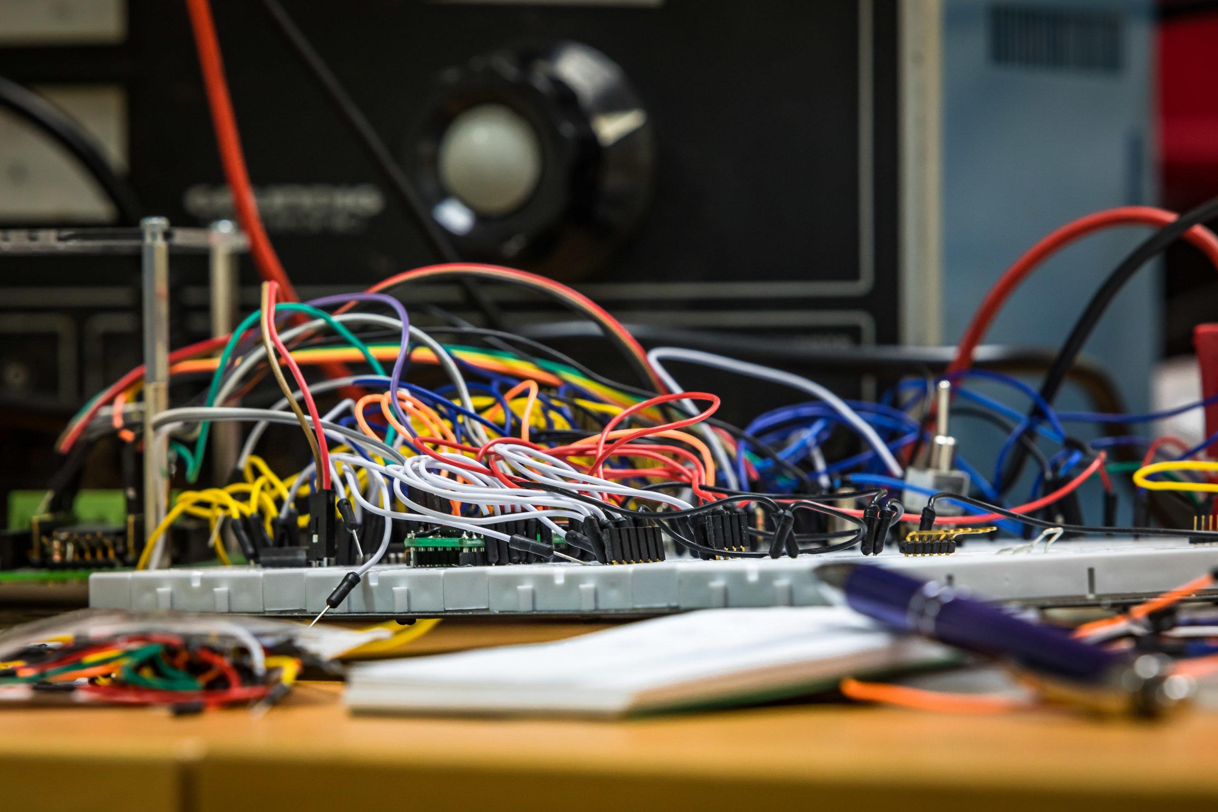 Testaufbau zur Entwicklung eines Prototypen