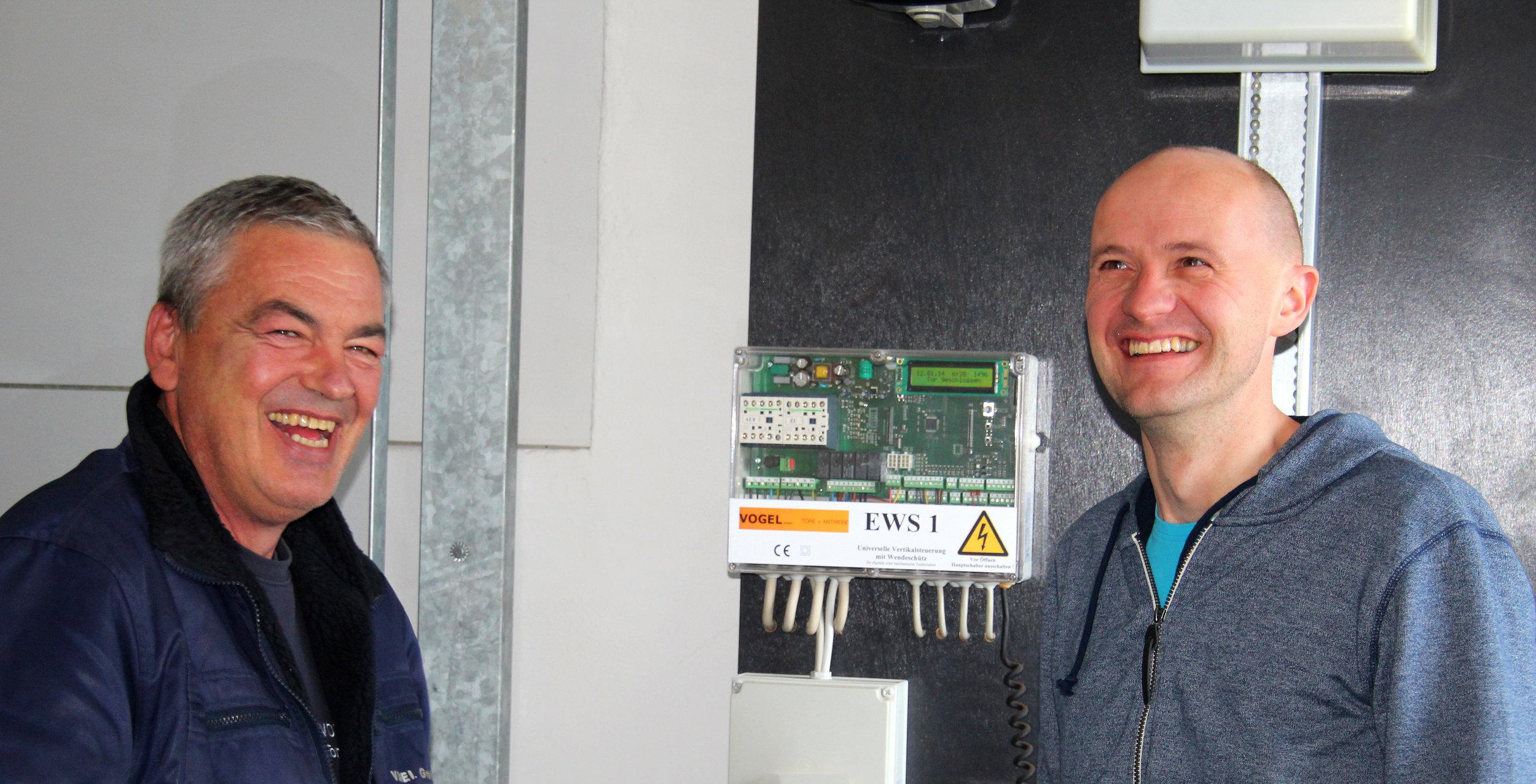 Kurt Vogel (Geschf. Vogel GmbH) und Marcus Oeltjebruns (Geschf. Schöfmann GmbH)