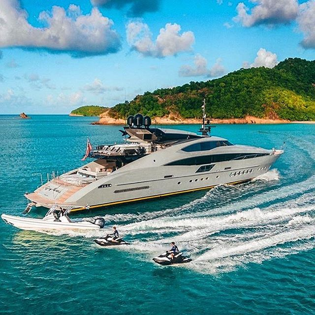 M/Y Grey Matters and her toys  #palmerjohnson #superyacht #yacht #luxurylifestyle #46M