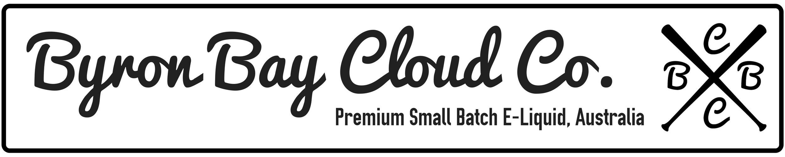 Byron Bay Cloud Co.   Premium Small Batch E-Liquid, Australia   Logo Banner