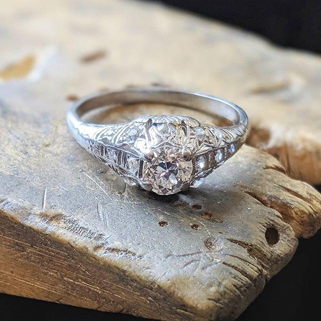 We've been ask to design a bespoke wedding ring to fit around our customer's beautiful Victorian engagement ring, using a selection of inherited diamonds...check out our next post to see what we've come up with 😉 - - - #diamonds #heirloomdiamonds #inherited #weddingring #bespokedesign #oneofakind #goldsmith #jewellerydesigner #jewelerydesigner #uniqueweddingrings #showmeyourrings #ido #benchpeg #bristoljeweller #bristol
