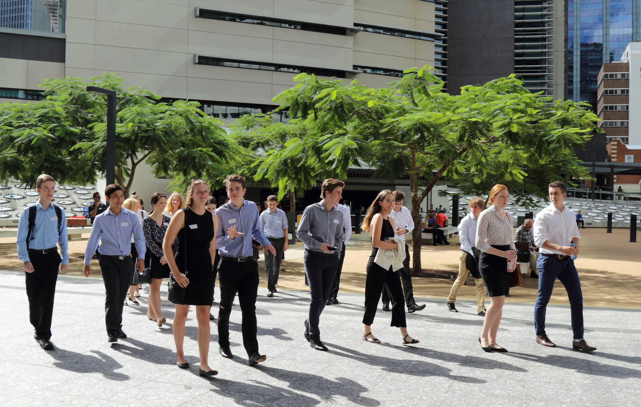 Students at the state courts during the 2016 Orientation Week