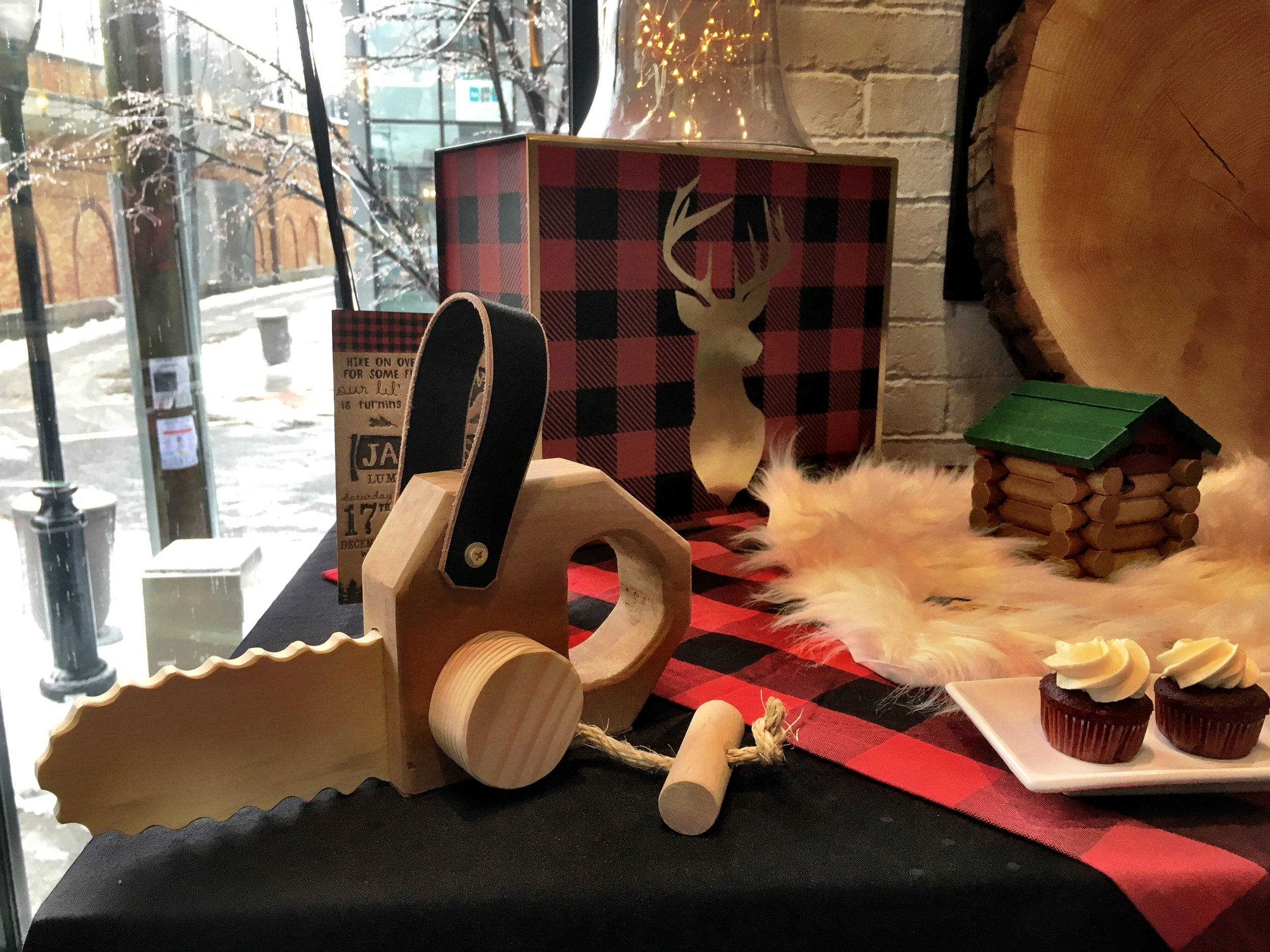 Wooden toy chainsaw from Etsy