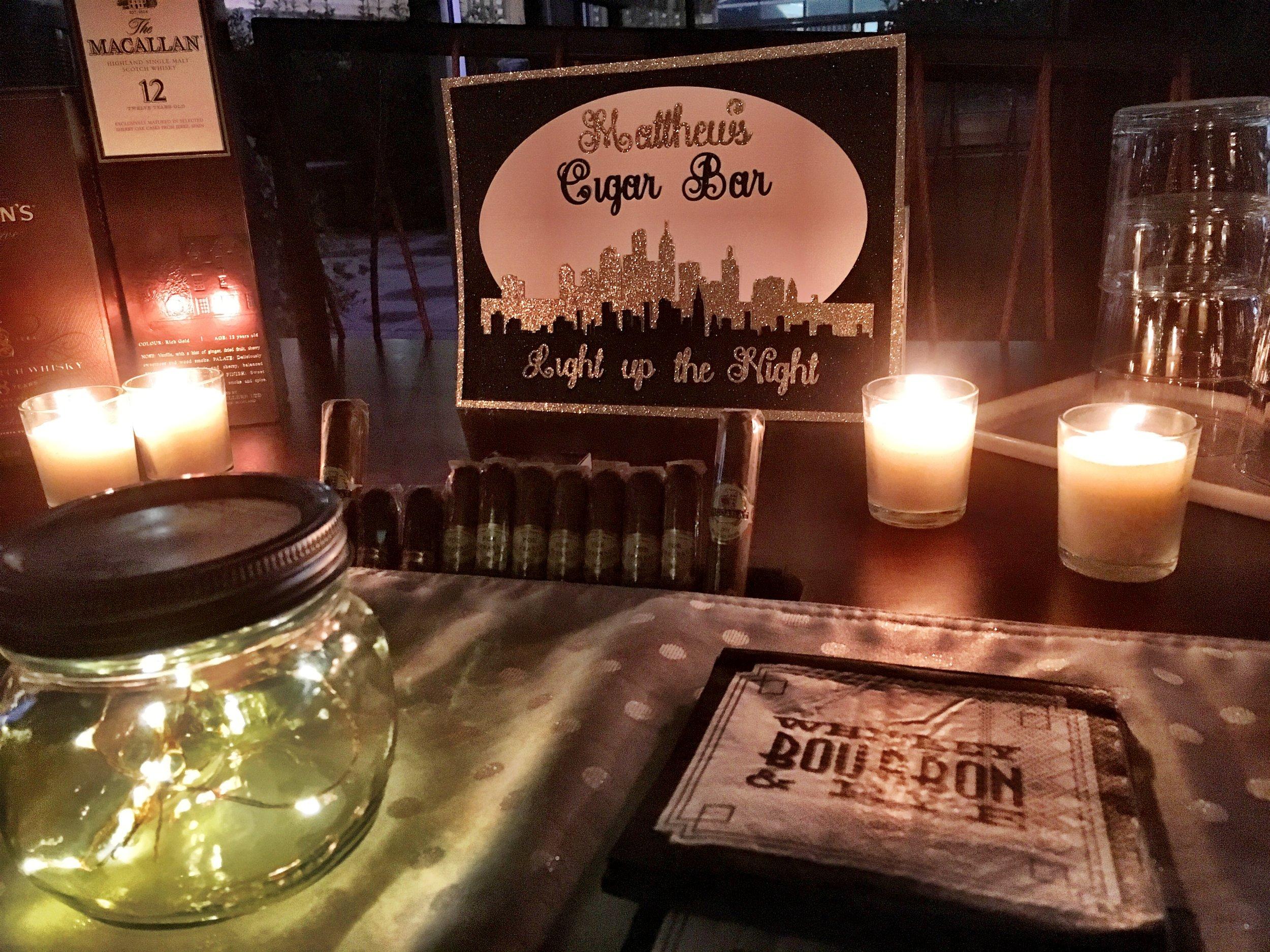 Custom Cigar Bar layered sign